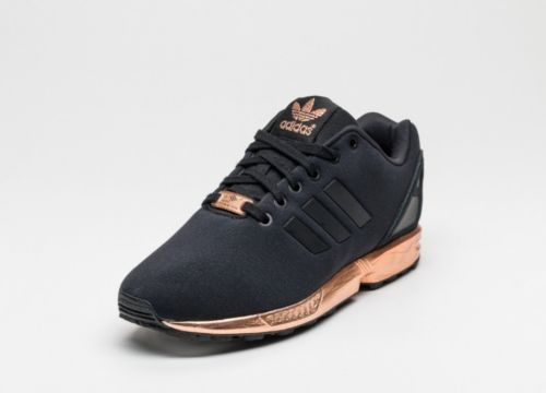 black and rose gold adidas