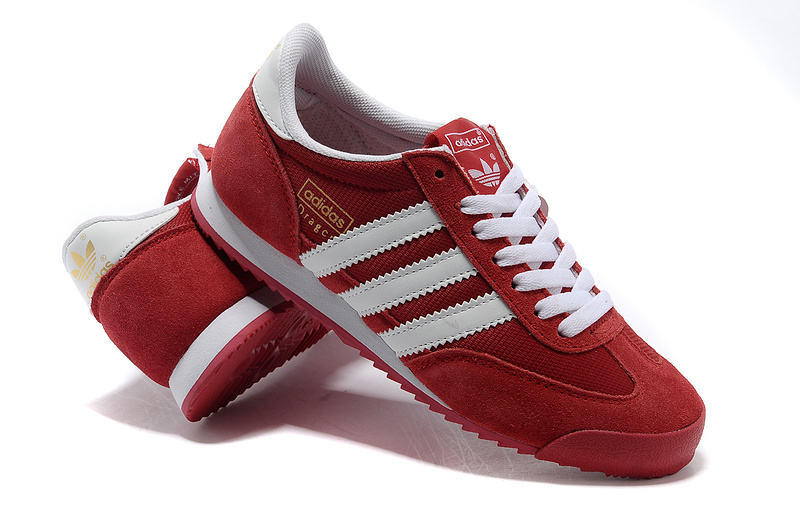 adidas men shoes red
