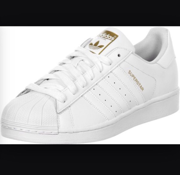 white and gold adidas